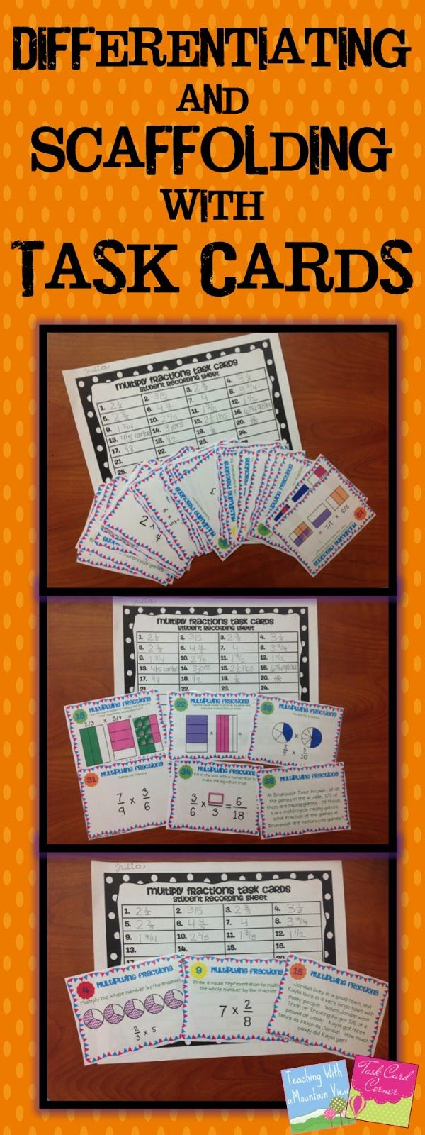 Differentiating and Scaffolding Instruction with Task Cards