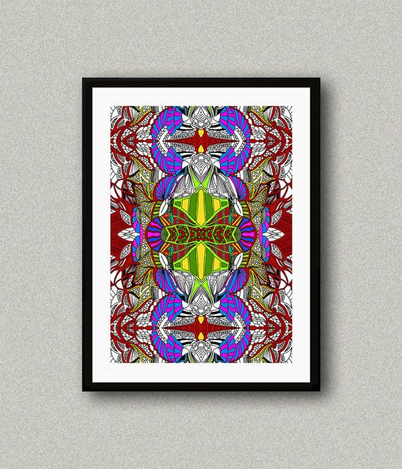 C003 Abstract art print Art poster Modern art by WhitePaperArt