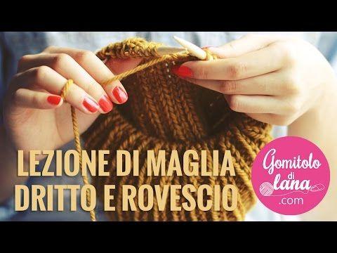 Lavoro a maglia Dritto e Rovescio - Metodo Continentale ed Europeo - YouTube