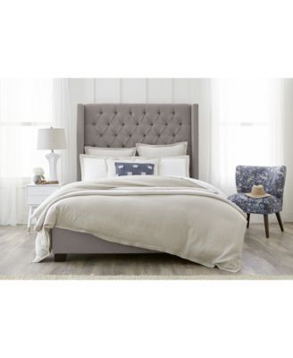 51f1ce484dc Monroe Upholstered Queen Bed  289.00 The sharp lines of the winged