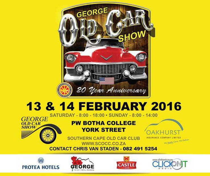 Join the #CoastalCustoms team at the George Old Car show on 13 & 14 February 2016 at #PWBothaCollege. See you all there.