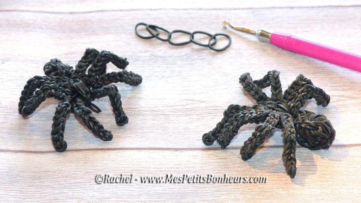 Création Loom et tutoriel par ©Rachel - www.mespetitsbonheurs.com . Connaissez vous Spider-Loom ? C'est mon araignée en élastiques :-) et mon nouveau tuto po...