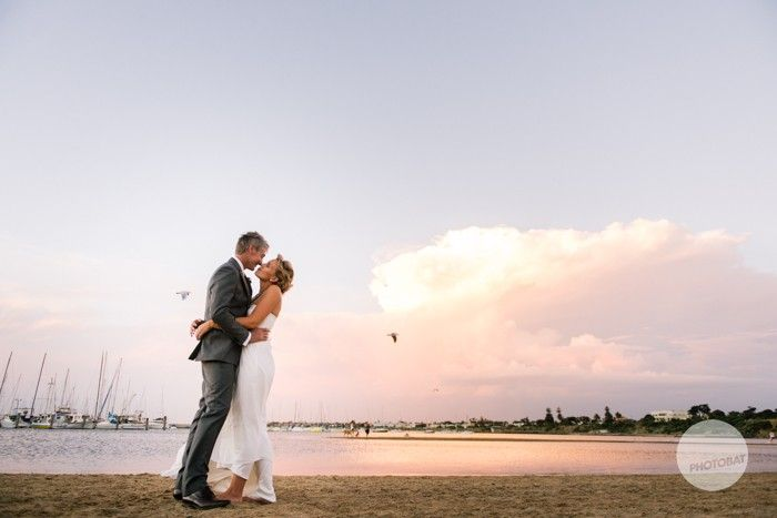 Fantastic beach just next to the yacht club for great sunset wedding photography with the city of melbourne in the background #melbourne #wedding #inspiration #pretty @Events at SYC