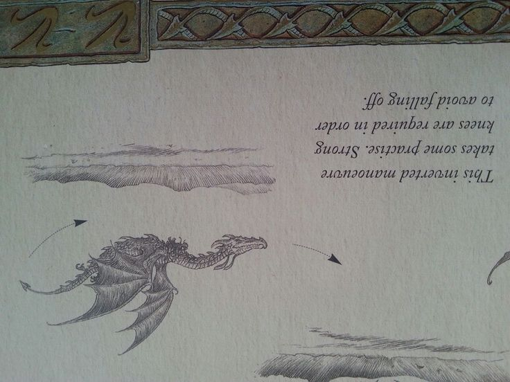 Dragon fligt fig. 3 figura tres three vuelo del dragon como vuelan los dragones