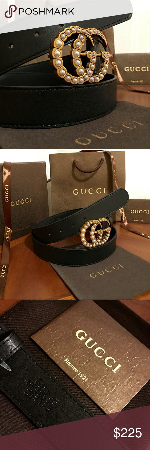 """Gucci Double G Belt!!! Gucci GG Belt W/Pearl & Antique Brass Double G Buckle!!!  Brand New!!!  Size Available - 28"""", 30"""", 32"""", 34"""", 36"""", 38"""", 40"""", 42""""!!!  Includes Gucci Belt, Gift Box, Dust Bag, Ribbon, Etc!!!  Great Gift Idea!!!  Last Available!!!  Check My Listings For Other Great Items!!!               Ignore: Gucci gg monogram casual dress belts men's women's guccissma leather gold silver web tiger bee embossed panther wool cable knit blooms supreme print angry cat ufo dragon studded…"""