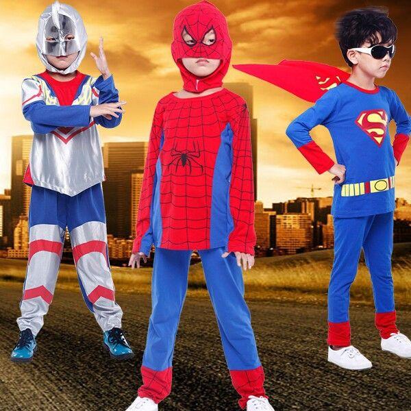 Купить Малыш одежда мальчики супермен человек паук одежда комплект длинный рукав T рубашка + хлопок брюки человек паук дети одеждаи другие товары категории Комплекты одеждыв магазине Yiwu Rex Guo's storeнаAliExpress. ребенок свиней и дети оборудованы шляпы бейсбол