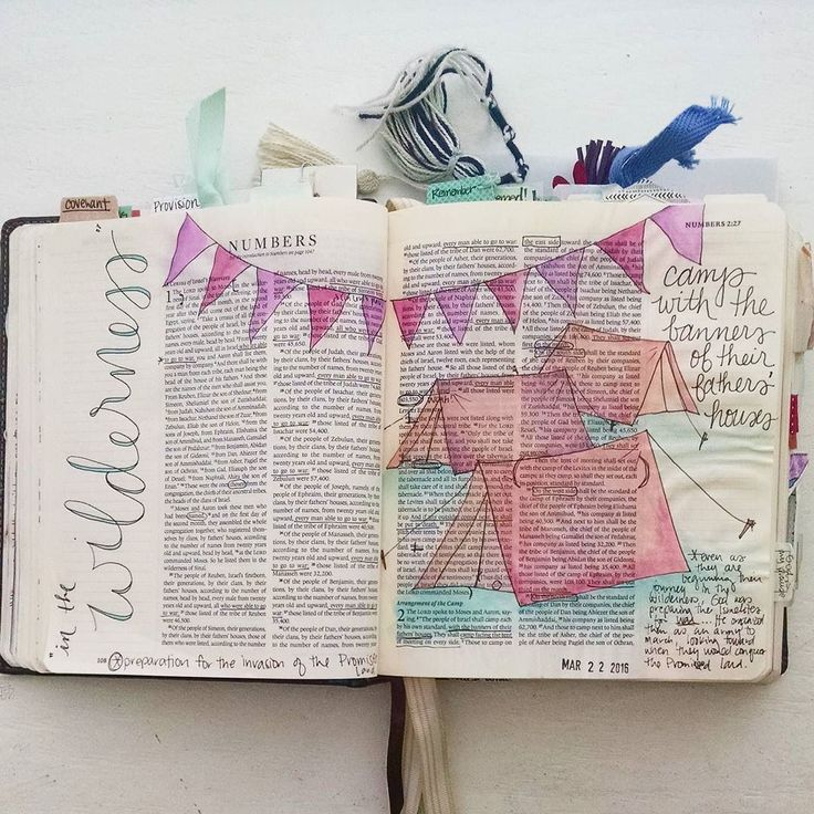 "It's been a looooong time since I've shared any of my bible journaling so I thought I'd share one of my favorite pages from a couple weeks ago when I settled in to work through Numbers. I love how this page turned out... The simple imagery highlighted text the link in my mind to my One Little Word for the year (CLEAR) and the notes from my bible commentary that struck me: ""even as they are beginning their journey in the wilderness God was preparing the Israelites for war. He organized them…"