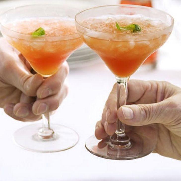 Vodka & Cranberry Blush Recipe Beverages, Cocktails with vodka, cranberry juice, orange juice, lime, ice