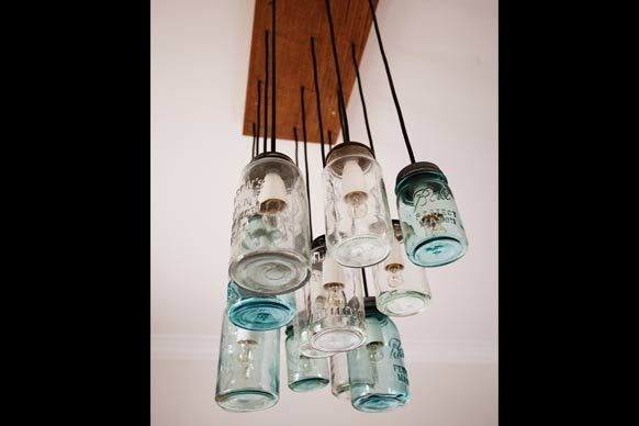 Mason Jar light | Dale and Sophie the block | quirky rustic style DIY