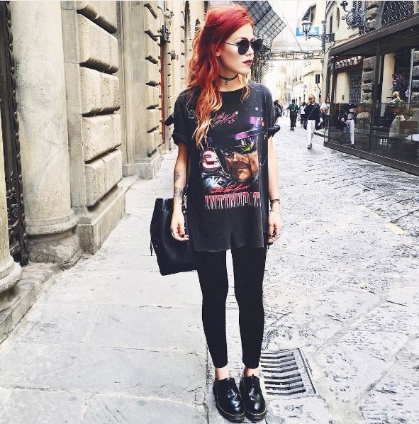 The 1461 shoe in black, shared by luanna90 #Outfit #DrMartens