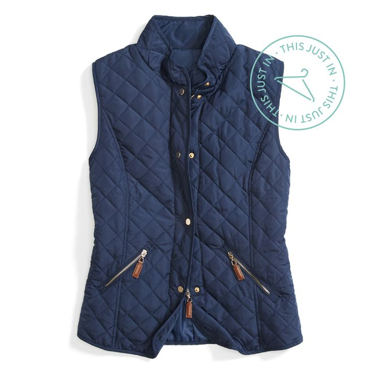 Invest in a vest! A quilted sleeveless layer keeps your core warm on even the chilliest days. #trendalert