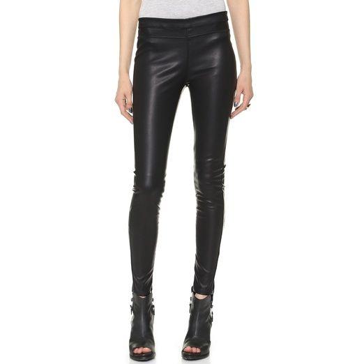 Rank & Style - Blank Denim Vegan Pull On Leggings #leather leggings