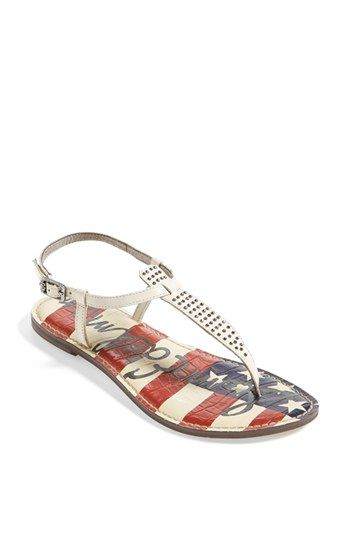 Sam Edelman 'Gigi' Sandal (Limited Edition) available at #Nordstrom. LOVE THESE-just bought them! They are sooo cute!