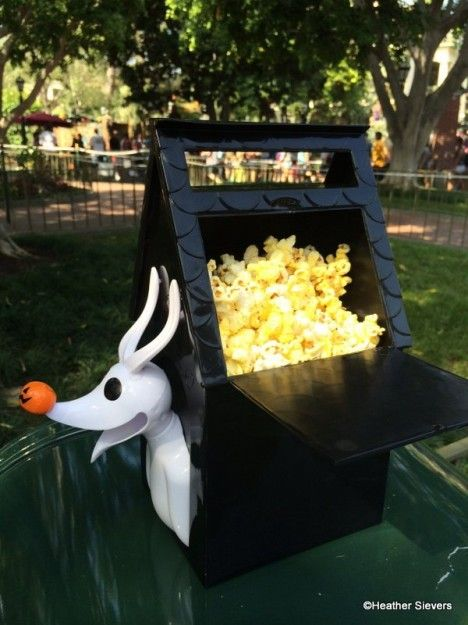 The popcorn stand near Haunted Mansion in New Orleans Square is where you can find this awesome Zero inspired bucket.