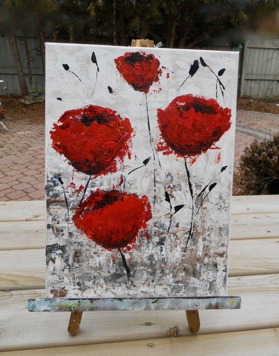 Klaproos schilderij rode papavers rode klaproos schilderij