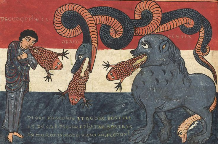 discarding images - the Beast, the Dragon and the False Prophet...