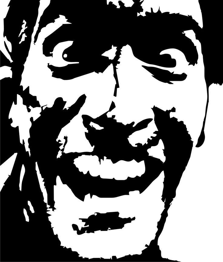 Bruce Campbell Evil Dead Stencil Template Poster Prints