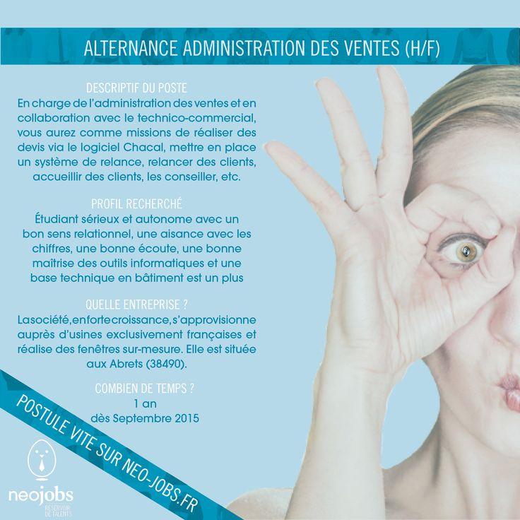 #Alternance Administration Des Ventes. Postulez Sur Www