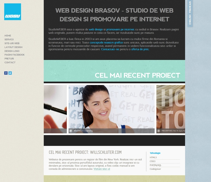 Web site layout for a design company based in Brasov. Online at: http://www.webdesignbrasov.ro