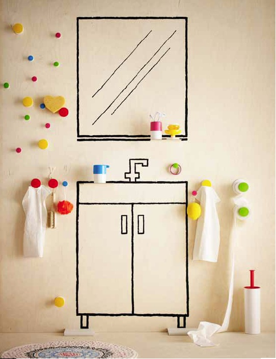 IKEA--simple stylized linework underscores the minimal, functional and often whimsical products.