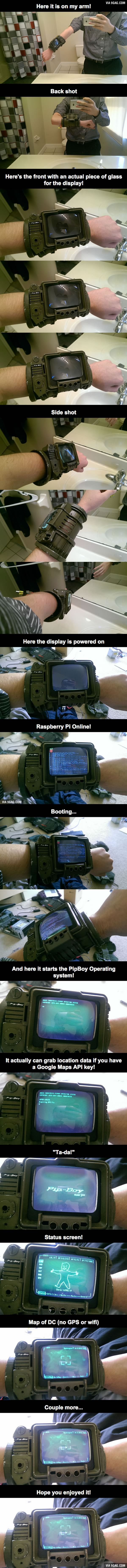 This guy made a PipBoy 3000A