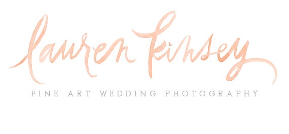 Watercolour calligraphy wedding photography logo