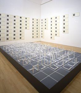 Sol Le Witt, Open Cubes Sculpture