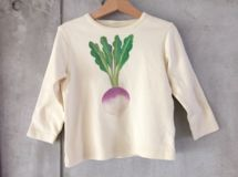 Turnip hand-painted long-sleeved child T-shirt