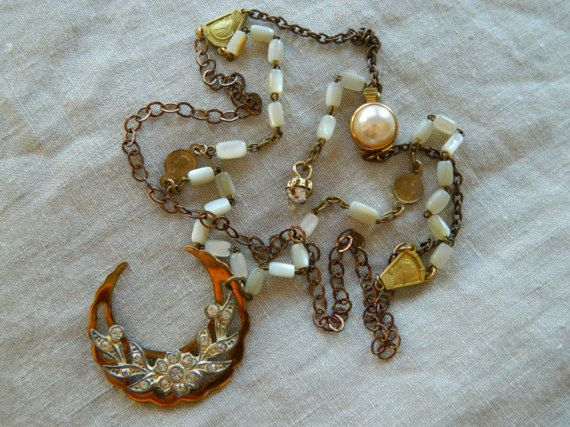 SALE 15% coupon code MARCH15 Assemblage Necklace by 58Diamond
