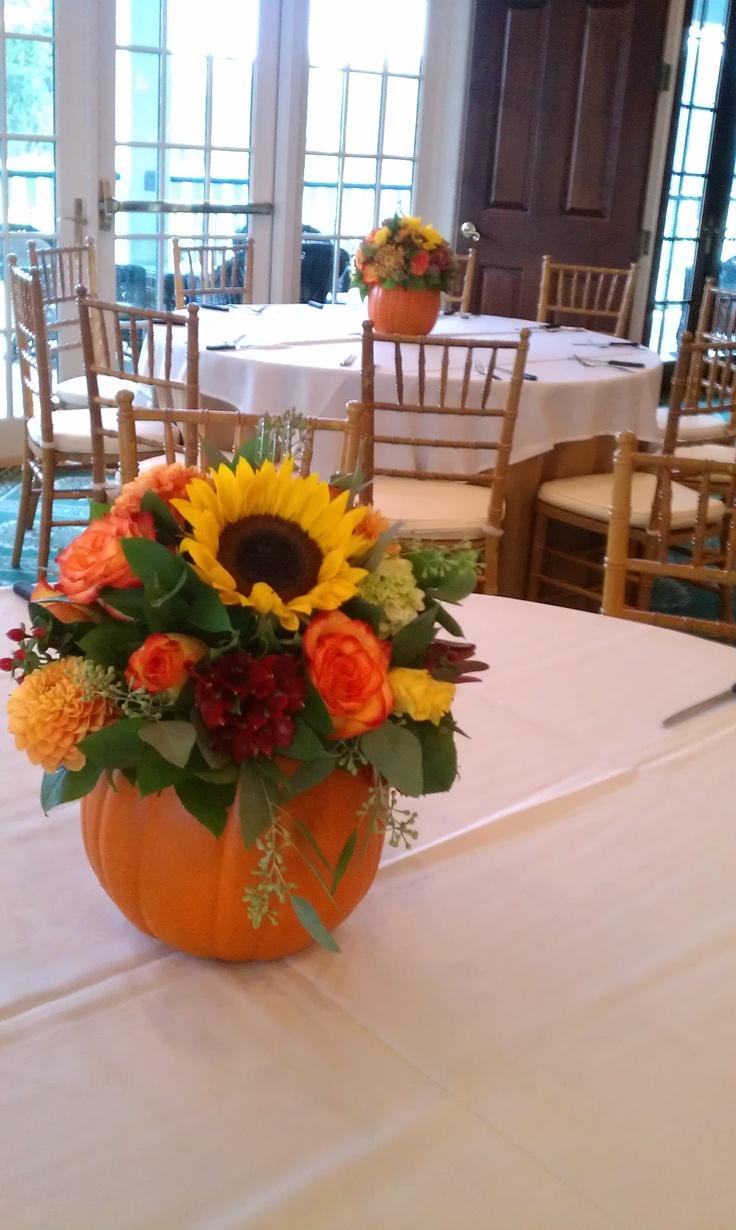 Festive Pumpkin Centerpieces