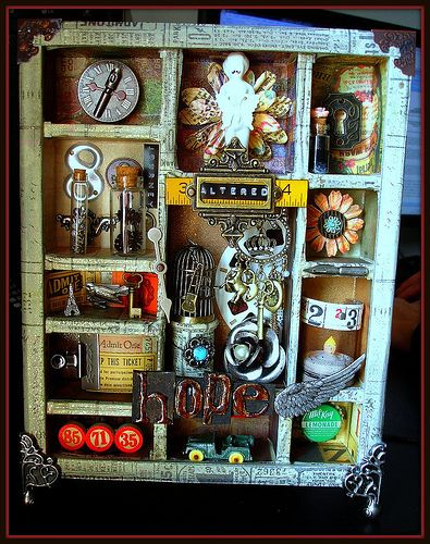 I love Tim Holtz configurations boxes. I made one of these for my in-laws and plan on making a smaller one for Scott and me ... something that will always remind us of life on the coast!