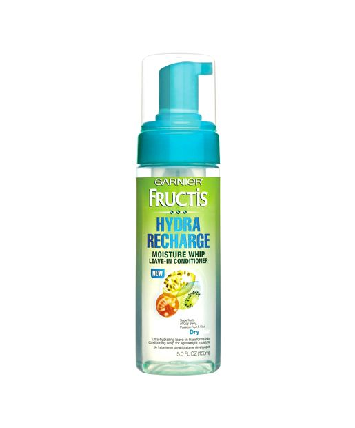 8 Best Leave-In Conditioners.....Garnier Fructis Hydra Recharge Moisture Whip Leave-In Conditioner..It leaves hair super soft and amazingly touchable, without making it heavy or weighing it down. Plus, it smells wonderful. I'd highly recommend this for those with dry hair like mine. Definitely a favorite that I will buy again..It doesn't weigh the hair down and I can even go a few days without having to wash my hair again..