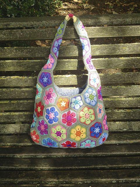 Ravelry: Talllulah31's African Flower Shoulder Bag