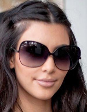 e83ac73c95a1 Black Aviator Sunglasses Kim Kardashian