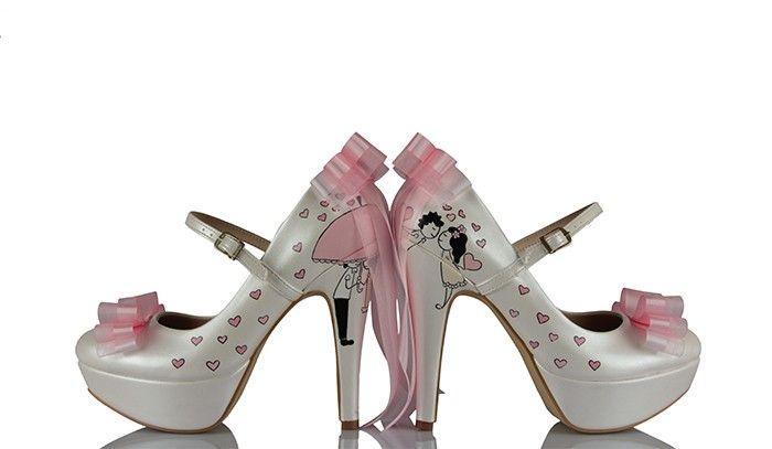 Pembe Gelinlik Ayakkabısı El Yapımı