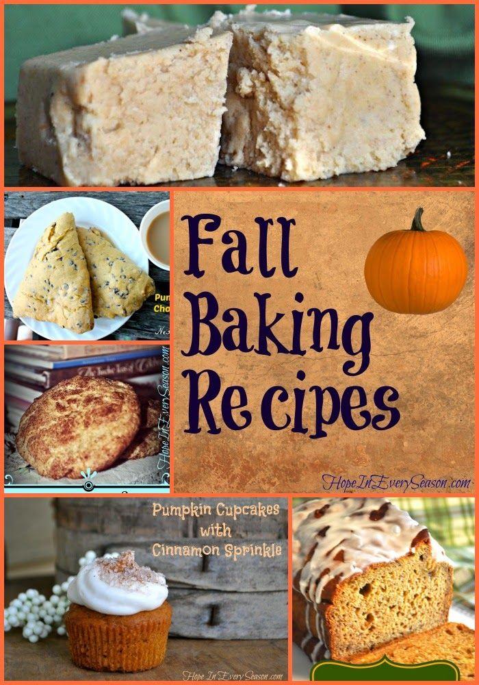Hope In Every Season: Fall Baking Recipes