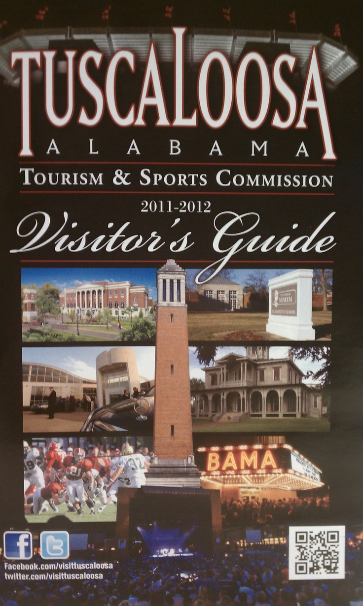 Request a FREE copy of our Visitor's Guide at www.visittuscaloosa.com