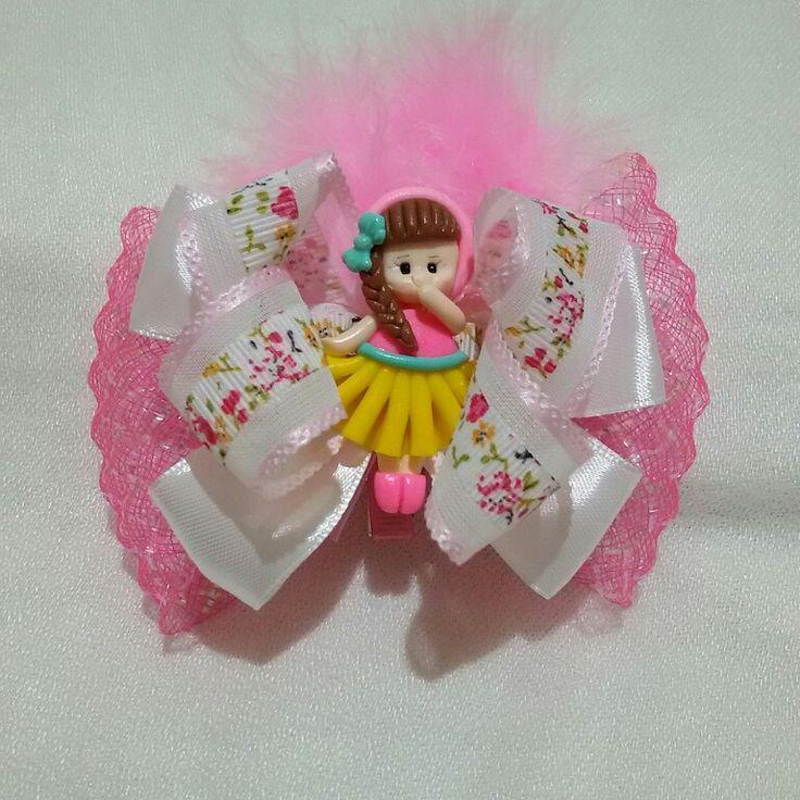10 $   Pinky princess hairclips