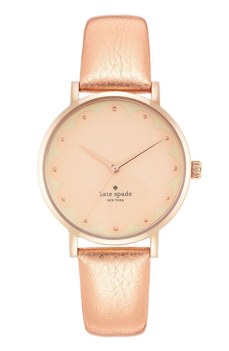 Lusting after this metallic pink Kate Spade watch.