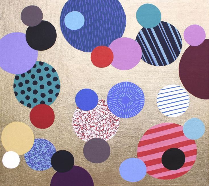 Only dots 5, Acrylic painting by Lucie Jirku on Artfinder.