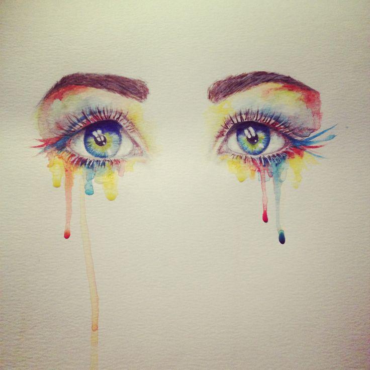Watercolor eyes - by Miranda Watson