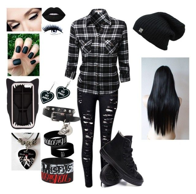 emo with a flannel awesome  scene outfits punk