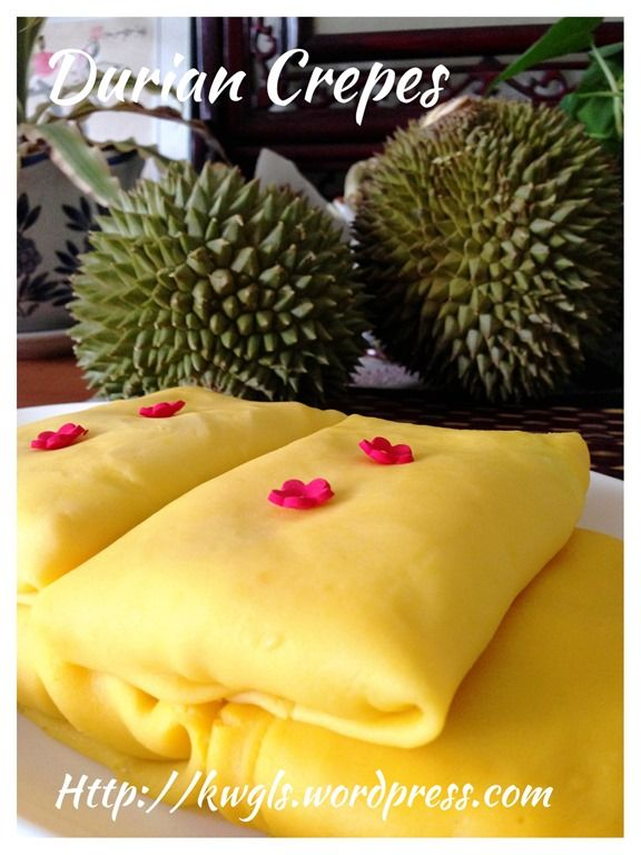 Durian Crepes or Durian Pancakes (榴莲班戟, 榴莲可丽饼)#guaishushu #kenneth_goh     #durian_crepes  #榴莲班戟