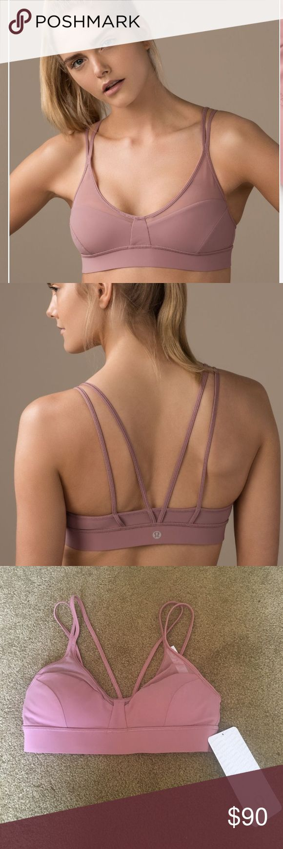 SOLD Lululemon Anew Bra in Quicksand 4 NWT. This color sold out extremely fast. It's a gorgeous dusty rose/Mauve shade. Unfortunately, this bra just doesn't work for me. I do not recommend this for large breasts. Lululemon recommends this for an A/B cup and I would agree. A size 4 bra is also recommend for a 32 band size. Band measures 12 inches. No trades and no transactions outside of this app. Stock photo shows true color. Priced to make room for offers and give me back what I paid…
