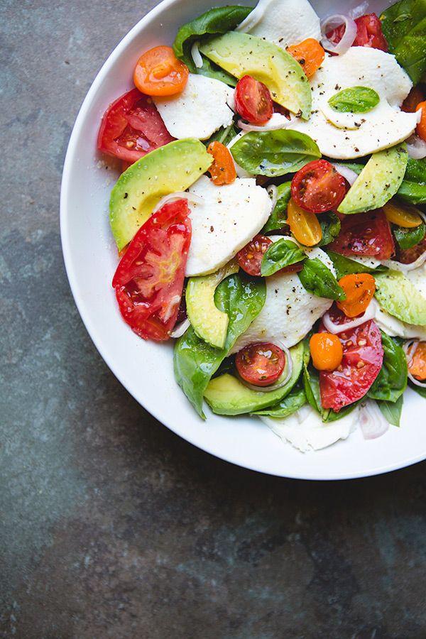 Avocado Caprese Salad Recipe via @Shaina Olmanson   Food for My Family