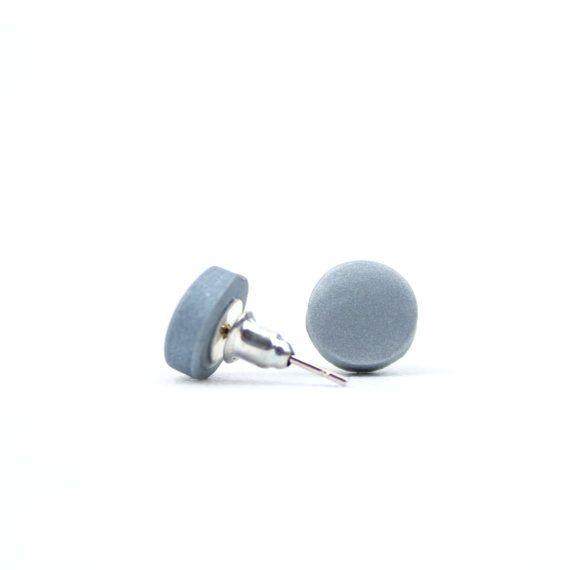 Pewter Grey Earrings Dark Silver Earrings by ClaudiaMadeThis