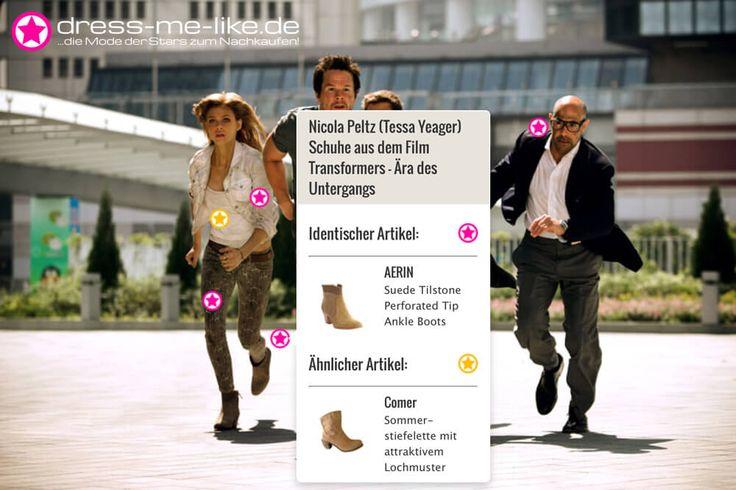 Nicola Peltz (Tessa Yeager) Schuhe (AERIN - Suede Tilstone Perforated Tip Ankle Boots) aus dem Film Transformers – Ära des Untergangs