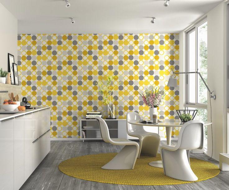 Rasch Hot Spots Yellow Wallpaper   Kitchen wallpaper ...