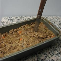 Vegetarian Haggis With Vegetable Oil, Onions, Carrots, Fresh Mushrooms, Vegetable Broth, Red Lentils, Kidney Beans, Ground Peanut, Ground Hazelnuts, Soy Sauce, Lemon Juice, Dried Thyme, Dried Rosemary, Ground Cayenne Pepper, Mixed Spice, Eggs, Steel-cut Oats