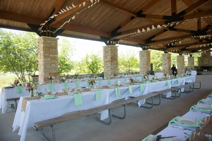 Outdoor Park Pavilion Wedding Reception